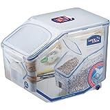 LOCK & LOCK Bulk Storage Bins Food Storage Container with Wheels 405.77-oz / 50.72-cup