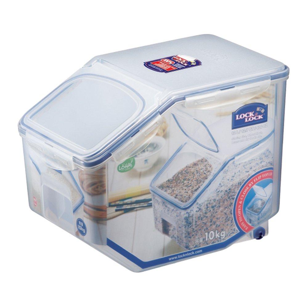 LOCK & LOCK Bulk Storage Bins Food Storage Container with Wheels 405.77-oz / 50.72-cup by LOCK & LOCK