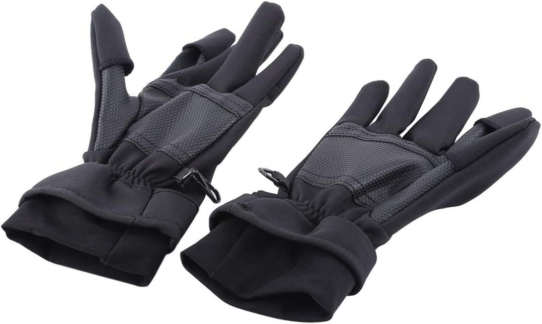 MEETBM ZIMO,Outdoor Sports Wind-Stopper Full Finger Winter Warm Photography Gloves S Size