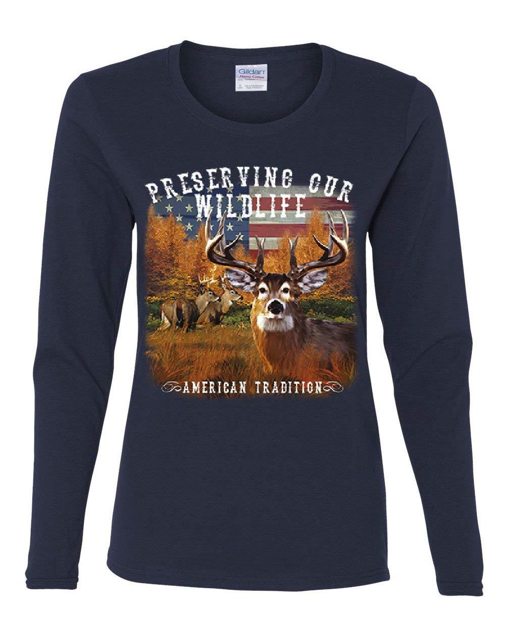 Preserve Wildlife American Tradition Tee Deer Buck Patriotic Shirts
