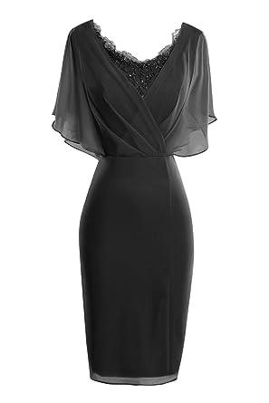 d57eea9ae ORIENT BRIDE Modern Scoop Short Sleeve Sheath Mother of The Bride Dresses  Size 2 US Black