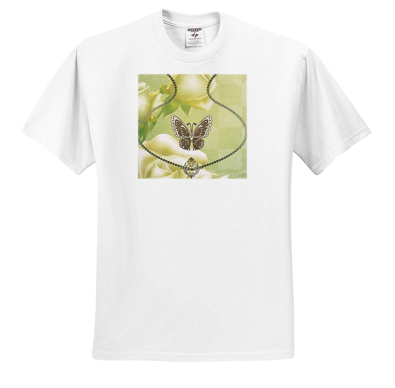 T-Shirts Beautiful Decorative Butterflies 3dRose Heike K/öhnen Design Animal