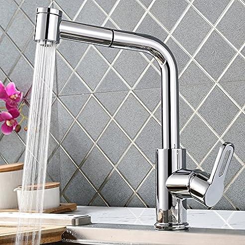 Homelody 360° Drehbar Küchenarmatur Ausziehbar Wasserhahn Küche