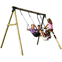 Plum® Lemur Wooden Swing Set