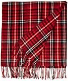Cuddlduds Yarn Dye Acrylic Throw, 50 by 60-Inch, Red Plaid
