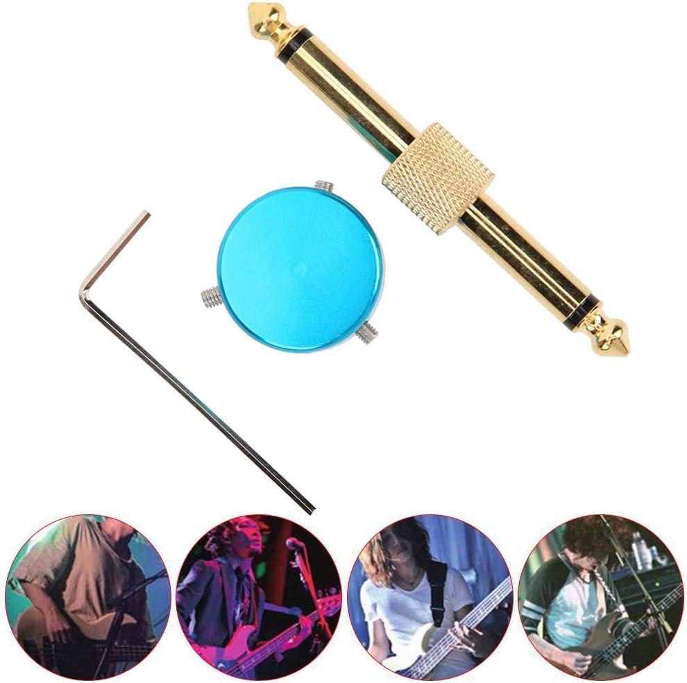 Adaptador de Audio Conector de Pedal de Efectos jac, con Llave Hexagonal Tapa de Pedal de Efectos de 1/4 Pulgadas, para intérpretes de Instrumentos Que practican el Rendimiento