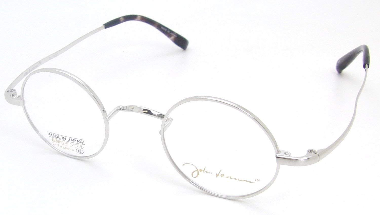 John Lennon ジョンレノン 一山丸メガネ JL-1021 メガネフレーム 度付 対応 選べるレンズ 鼻あて無し 丸眼鏡 専用ケース付 B01M5C3TXX 3.アンティークゴールド|5.超薄型非球面レンズ度付 3.アンティークゴールド -