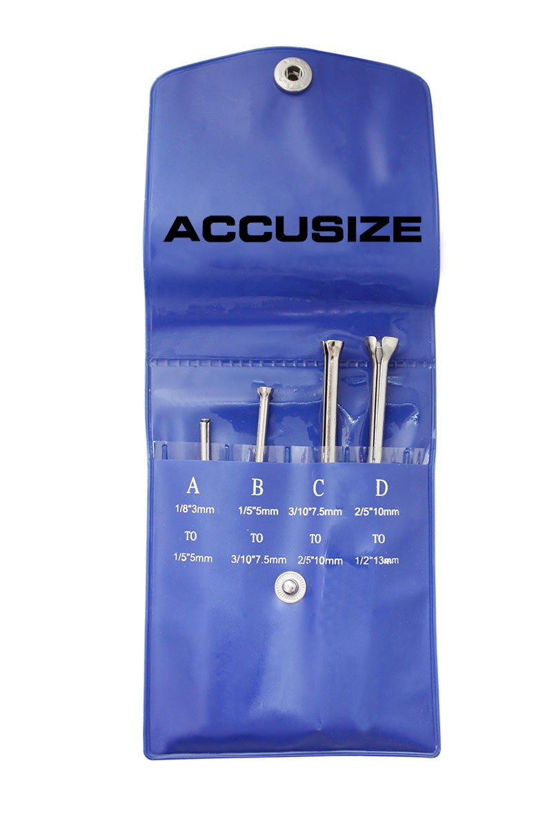 Accusize - 4 Pcs Small Hole Gauge Set, Half Ball Type, EG04-5001 Accusize Co. Ltd.