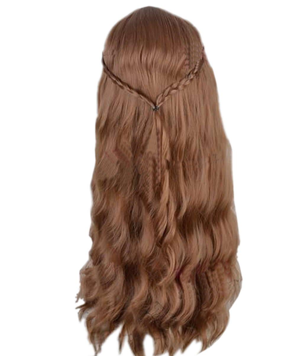Peluca Larga y Ondulada Cosplay de Thrones Marrón Oscura Pelucas para Mujeres con Redecilla Wig Accesorio: Amazon.es: Belleza