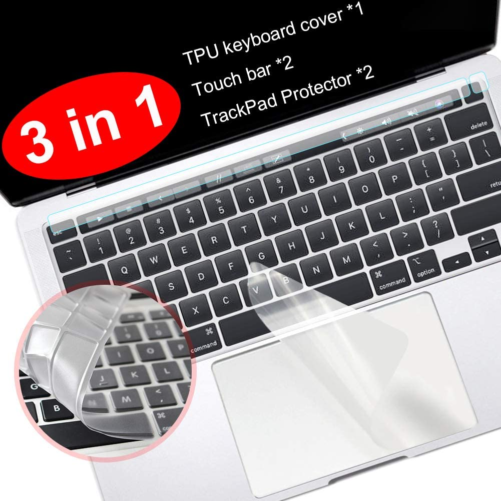 Silicone Keyboard Cover for MacBook Pro 16 Inch 2019 A2141 Model Keyboard Covers Film Scratch Proof Protect-Us Version Black