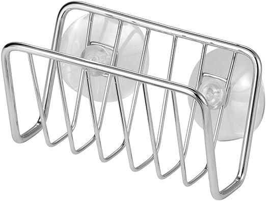 etc jab/ón   El accesorio ideal con ventosas Acero cromado InterDesign Rondo soporte para jabones artesanales Accesorios de cocina para almacenar esponjas de ba/ño