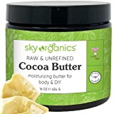 Cocoa Butter by Sky Organics (16 oz) Pure Unrefined Raw Cocoa Butter for Body, Hair and DIY Raw Cocoa Body Butter Natural Coc