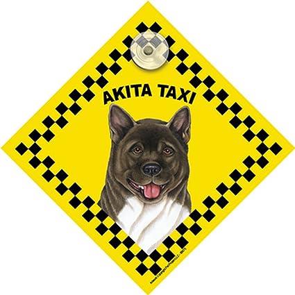 TYP5 Akita American Akita Sign Gift Car Window Sticker Dog on Board Sign
