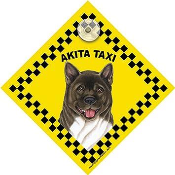 Amazon.com: Akita ventana Swinger Taxi señal de perro ...
