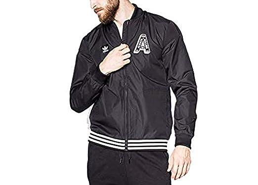 Adidas Originals Varsity Sudadera para Hombre Negro, S: Amazon.es: Ropa y accesorios