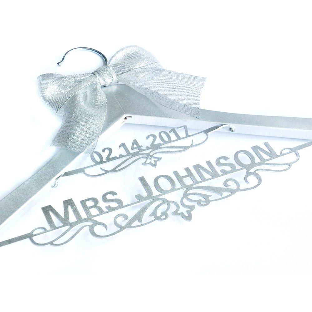 Custom Wedding Hanger, Personalized Bridal Dress Hanger,Bride ...