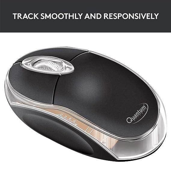 Quantum QHM222 3 Button 1000DPI Wired Optical Mouse  Black