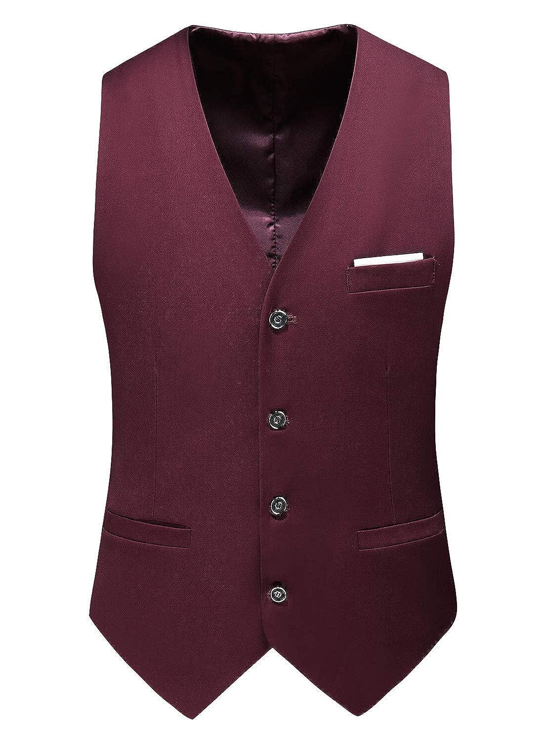Amazon.com: MOGU Chaleco para hombre, traje casual, 13 ...