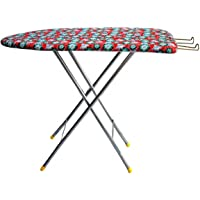 Rjkart Heavy Metal Ironing Board Foldable with Iron Holder (Multi)