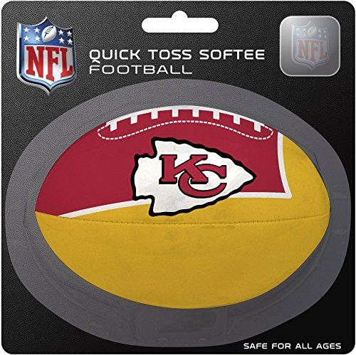NFL Kansas City Chiefs Kids Quick Toss Softee Football, Red, Small