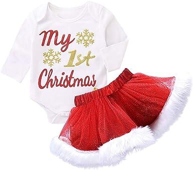 Disfraz Navidad Bebe Niña Tutu Falda Corta + my 1st Christmas ...
