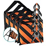 Neewer 4-pack Black/Orange Photographic Sandbag for Light Stands, Tripods and 6-pack 4.3 inches/11 centimeters Muslin Spring Clamps/Clips for Photo Studio Backdrops Backgrounds, Lighting Accessories