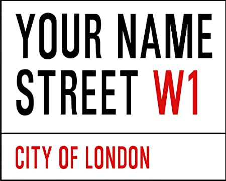 personalised london street sign metal wall sign 6x8inches plaque