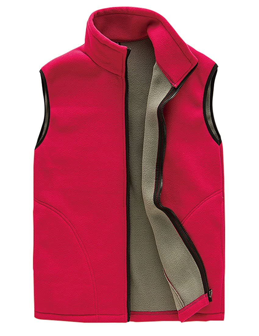 Jenkoon Men's Full Zipper Cozy Versatile Mountain Fleece Vest