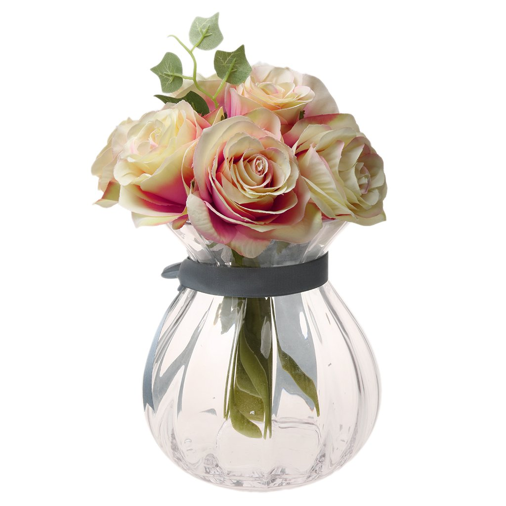 Homyl Artificial 10 Head Silk Rose Hydrangea Bridal Bridesmaid