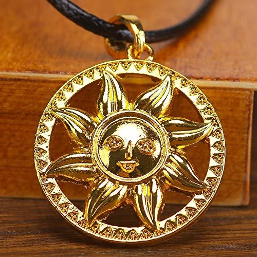 Amulet Sun Pendant | Sun Flower Circle Nordic Jewelry | Ethnic Talisman Pendant