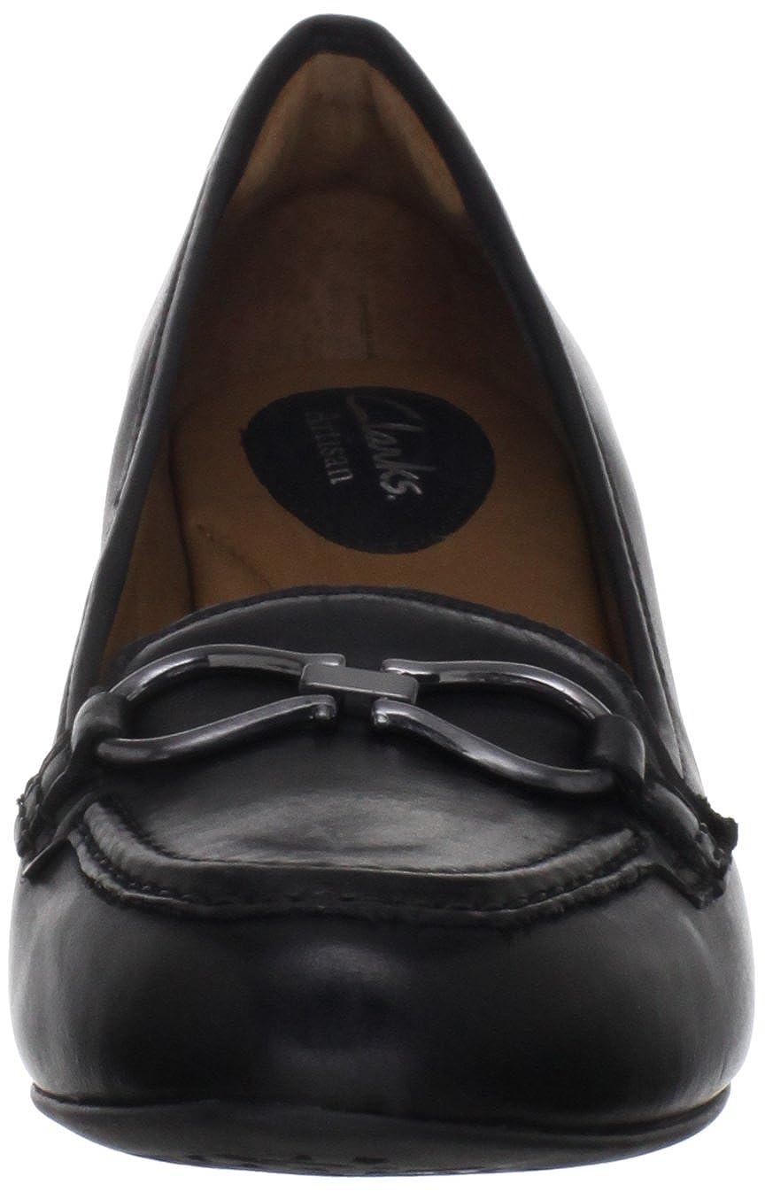 Amazon.com | CLARKS Women's Artisan Decade Capri, Black, 7.5 M US | Pumps