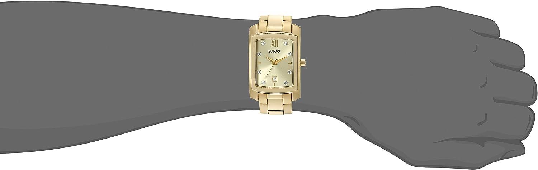 Bulova Men s Quartz Stainless Steel Dress Watch Model 97D107