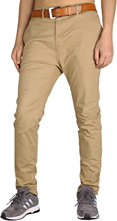 THE AWOKEN Mens Chinos Slim Fit Stretch