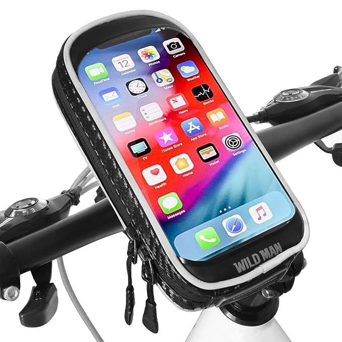 Soporte Movil Bicicleta Impermeable Universal 360 Grados Rotación Soporte Bolsa Movil Bicicleta con Pantalla Táctil Sensible Bolsa Telefono Bicicleta ...