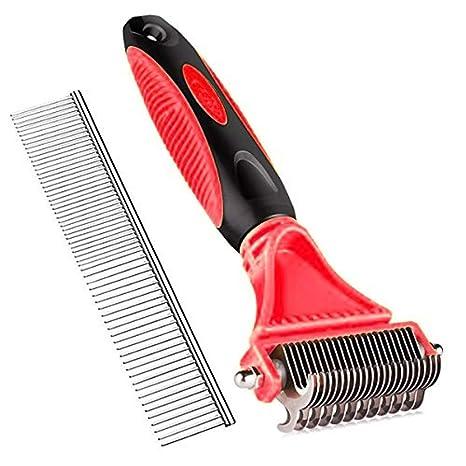 OUTLETISSIMO® Kit de peluquería Profesional Cepillo y Peine para Perros y Gatos resultando Nudos Elimina