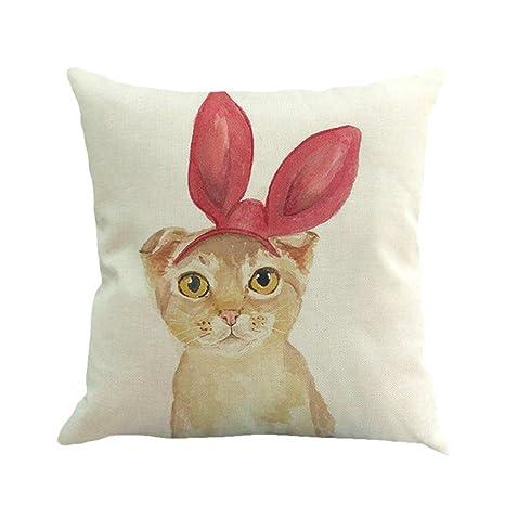 sunone11 Wearing tocado orejas de conejo gato funda de ...