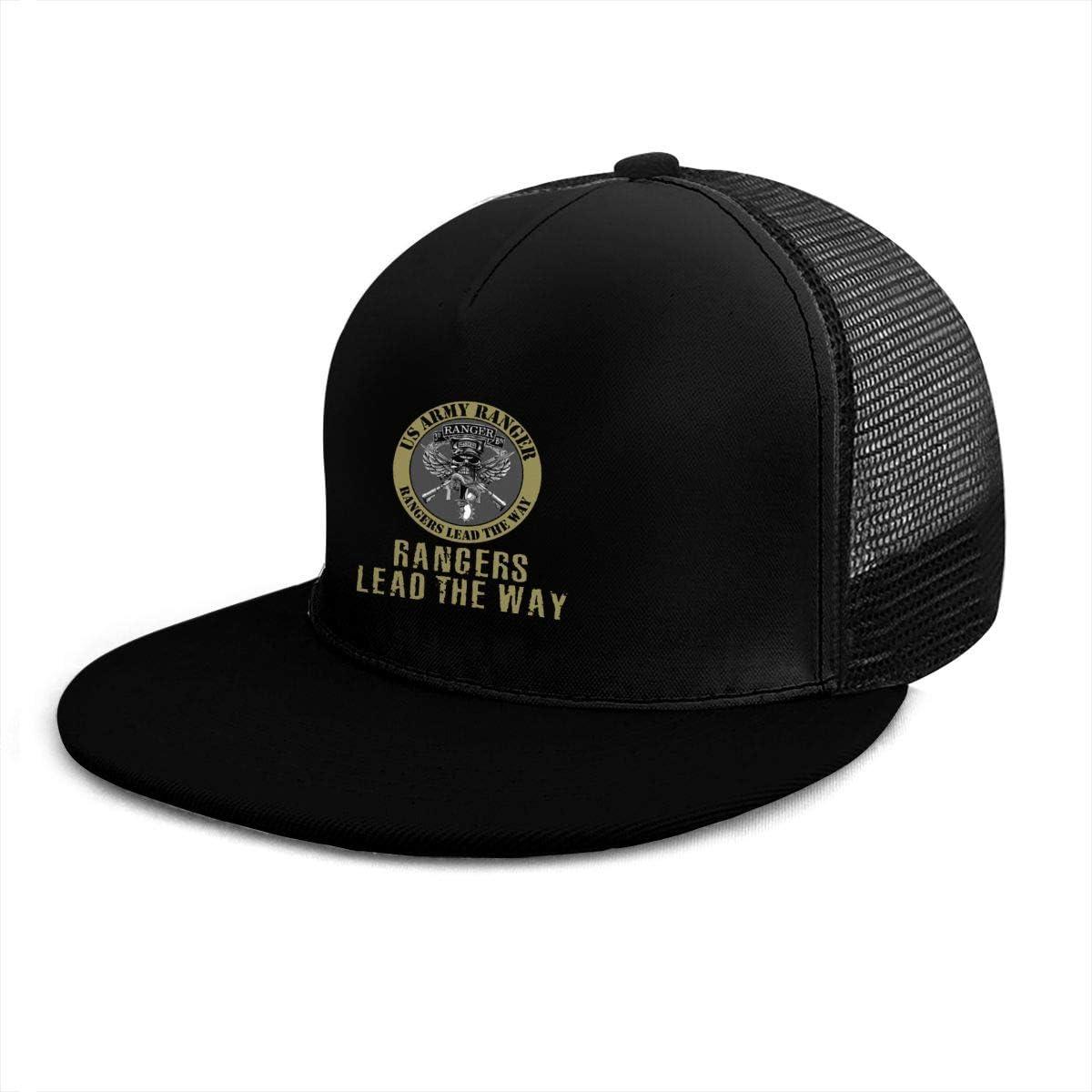 US Army Ranger Lead The Way Classic Grid Cap Flat Along Baseball Hats Snapback Unisex Hats Adjustable
