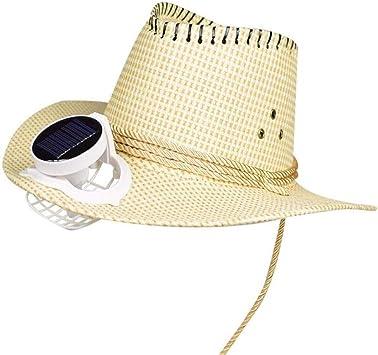 Casquillo Del Vaquero Masculino Energía Solar Ventilador Sombrero Grande Sombra Gorro Para El Sol Al Aire Libre Actividad Turismo Vacaciones En La Playa, 3 Colores: Amazon.es: Bricolaje y herramientas