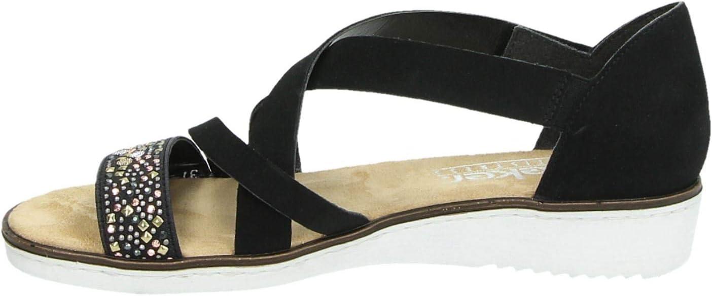 Rieker dames sandaal Zwart