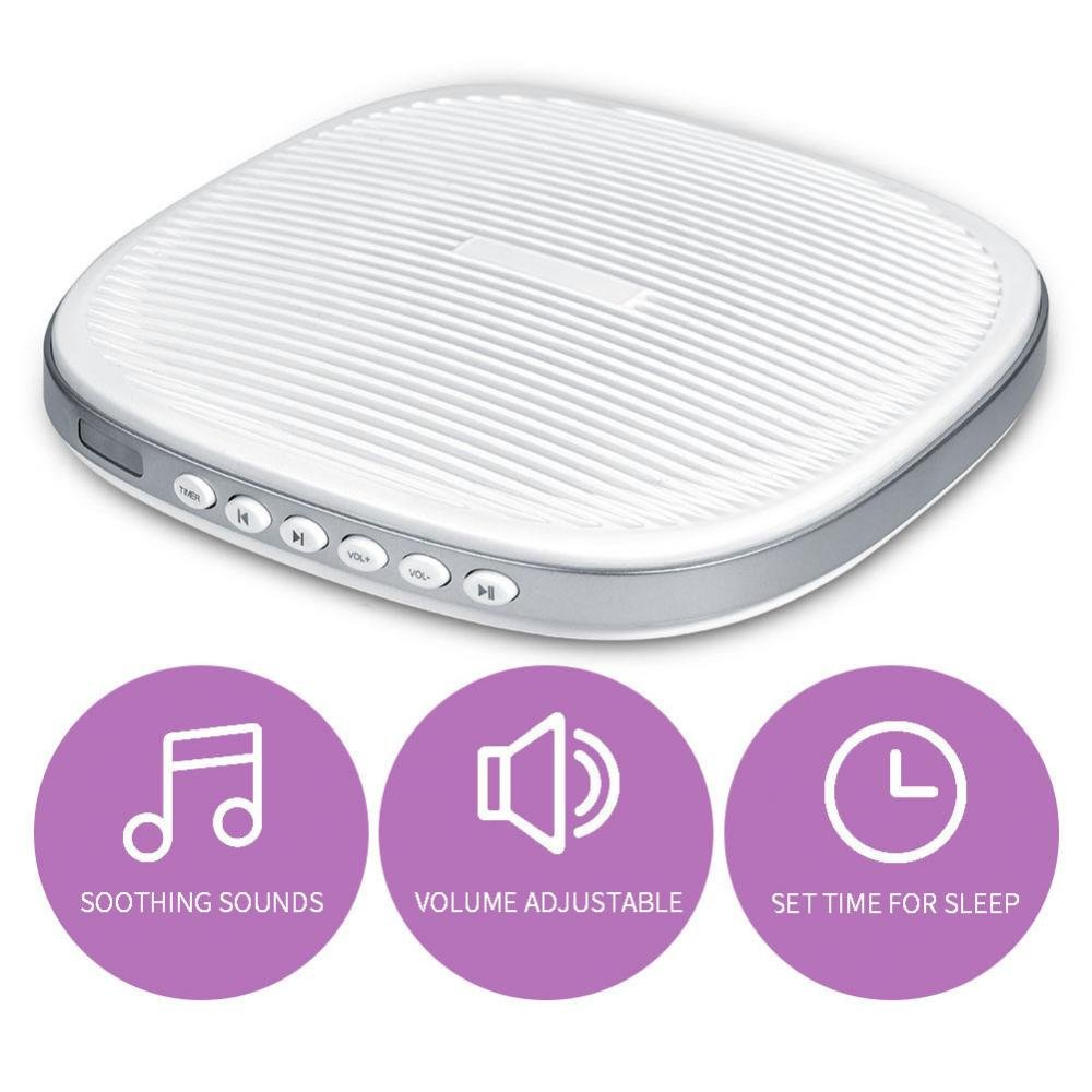 Portable White Noise Sleep Machine, 3 Timer Sleep Sound Machine with 20 Soothing Sound for Baby Adult Traveler Bedroom Office Home