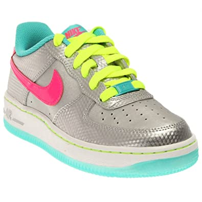 sports shoes 8d171 da673 Nike Kids Air Force 1 Low, Metallic Silver Hyper Pink-Hyper Jade-Volt,  5.5Y  Buy Online at Low Prices in India - Amazon.in