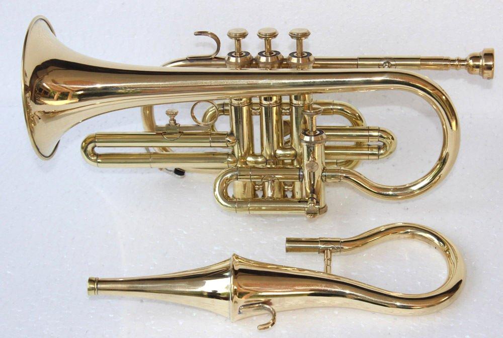 Bb Flat Brass Finishing Echo Conret With Free Hard Case+Mouthpiece
