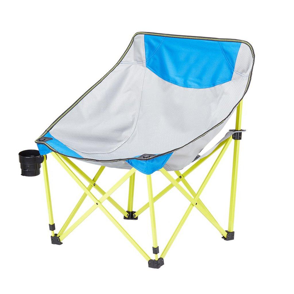 ベンチ 折り畳み椅子屋外用具ビーチレジャー釣り背もたれアダルトスケッチキャンプ用バーベキューチェア (A++) (色 : 青) B07DBPBNGV 青 青
