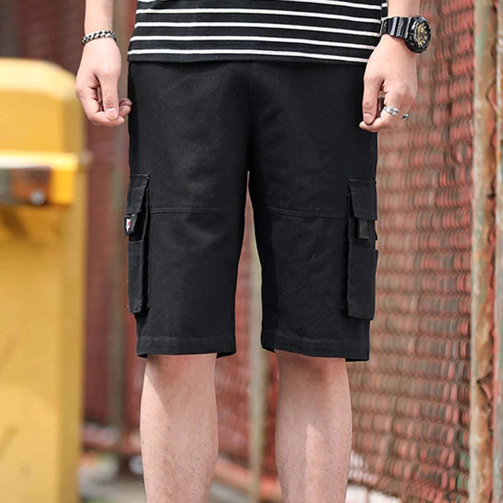 LINSINCH Bermudas Grande Taille Short Lin Homme Pantalons Casual Ext/éRieur Poche Travail Plage Baggy pour Hommes Sport Travail Camouflage Short De Bains