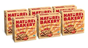 Nature's Bakery Oatmeal Crumble Bars, Strawberry, Real Fruit, Vegan, Non-GMO, Breakfast bar, 6 boxes with 6 bars (36 bars)
