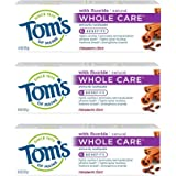 Tom's of Maine Whole Care Toothpaste, Cinnamon Clove, 4.0 Oz, 3 Pack