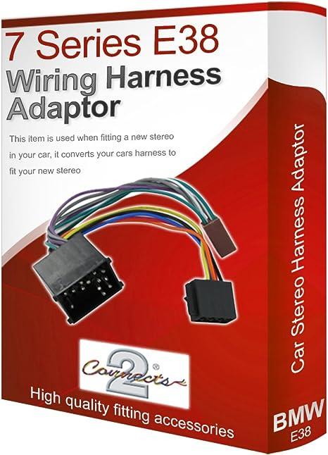bmw 7 series e38 cd radio stereo wiring harness adapter lead loom ...  amazon