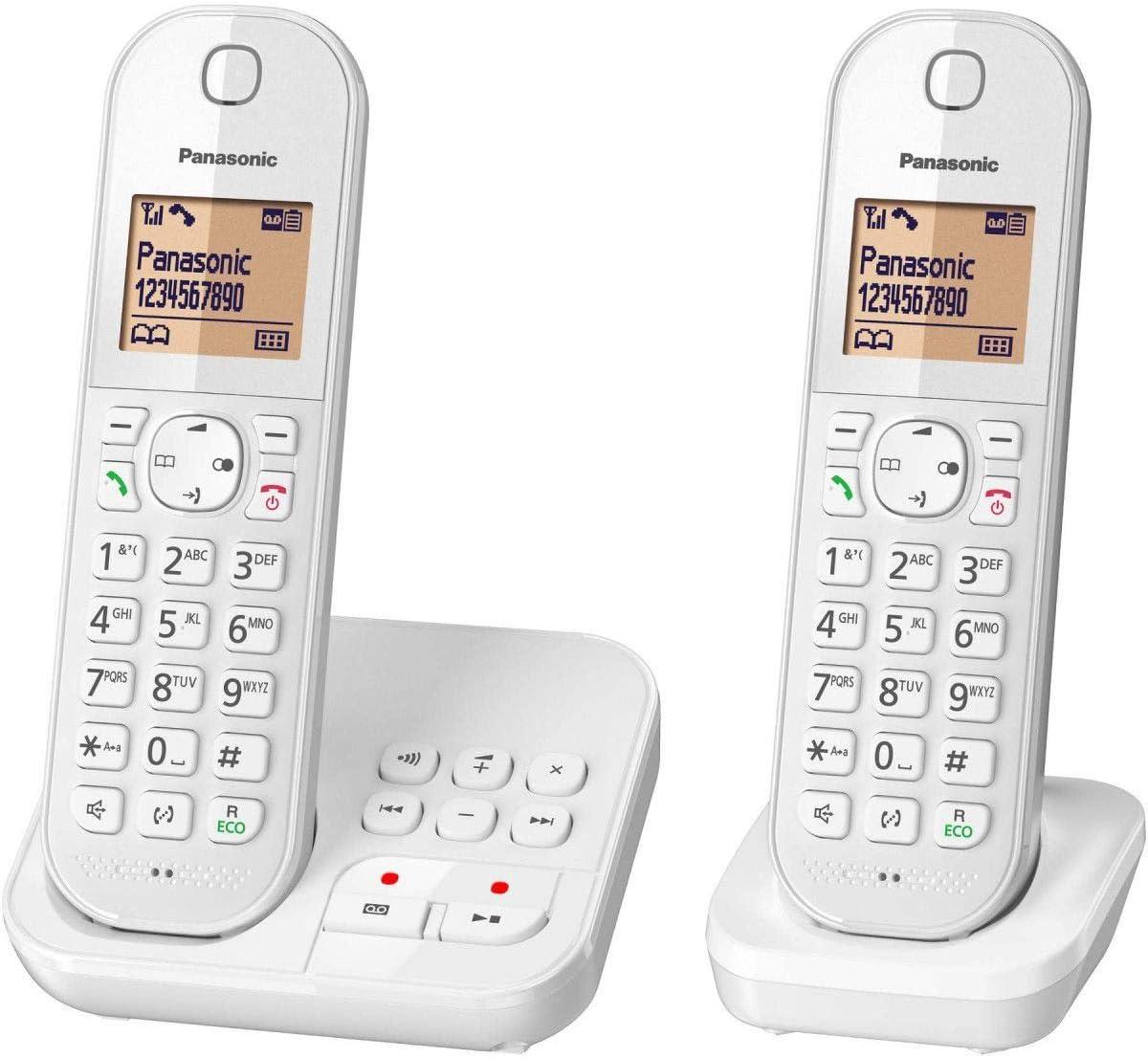 Panasonic KX-TGC422FRW - Teléfono (Teléfono DECT, Terminal inalámbrico, Altavoz, 120 entradas, Identificador de Llamadas, Blanco): Amazon.es: Electrónica