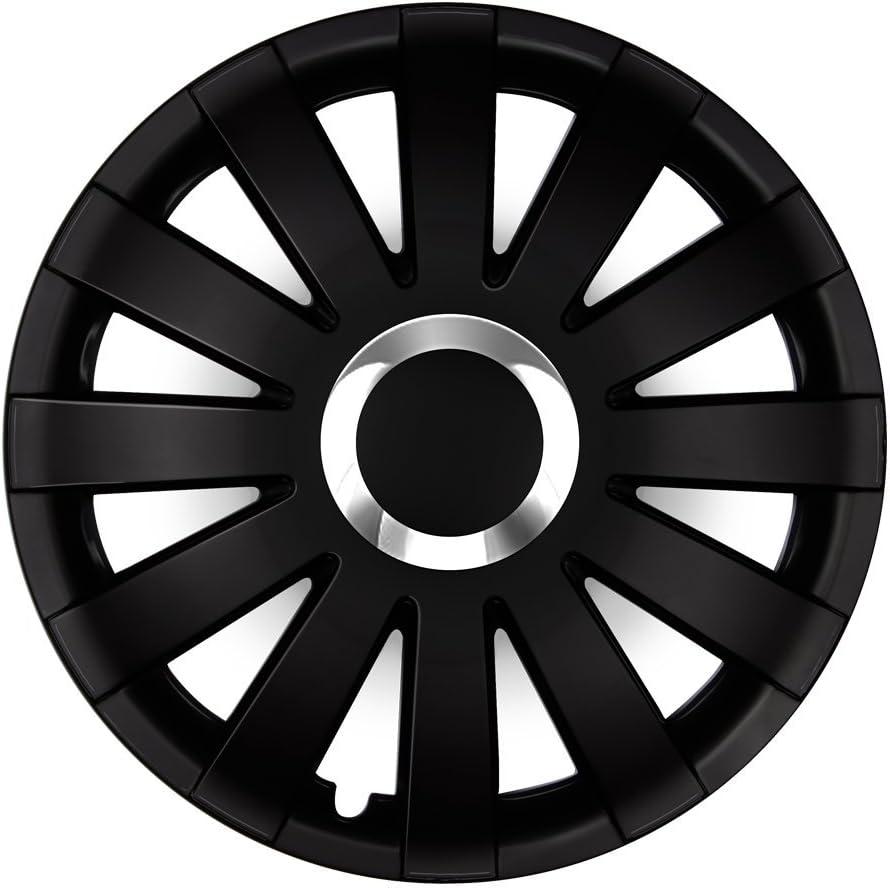 Farbe und Gr/ö/ße w/ählbar! - vom Radkappen K/önig Schwarz-Silber universell 16 Zoll Radkappen Onyx Eight Tec Handelsagentur passend f/ür Fast alle Fahrzeugtypen