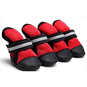 Amazon.com   Pet Dog Shoes Soft Mesh Breathable Anti-Slip Dog Paw Protector  Boots for Small Dogs Four Seasons Walking Shoes   Pet Supplies e4131503d5e4